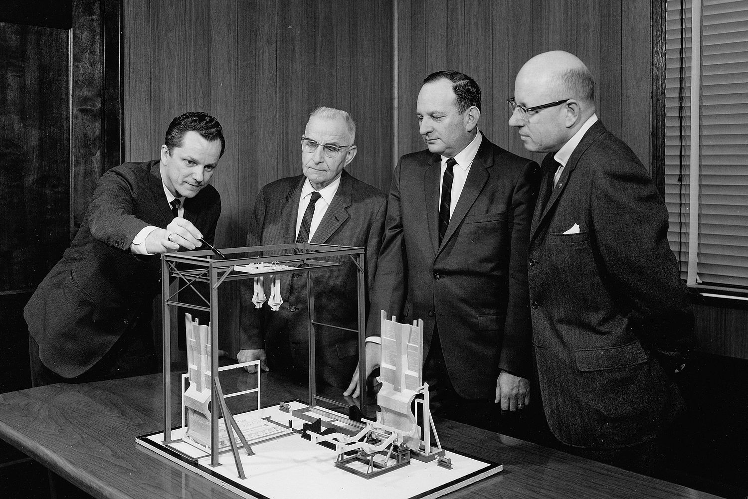 Harry G. Garland and management team of Anchor Steel and Conveyor (1966).jpg