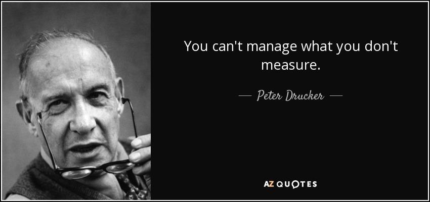 פיטר דרוקר - אינך יכול לנהל את מה שאינך מודד